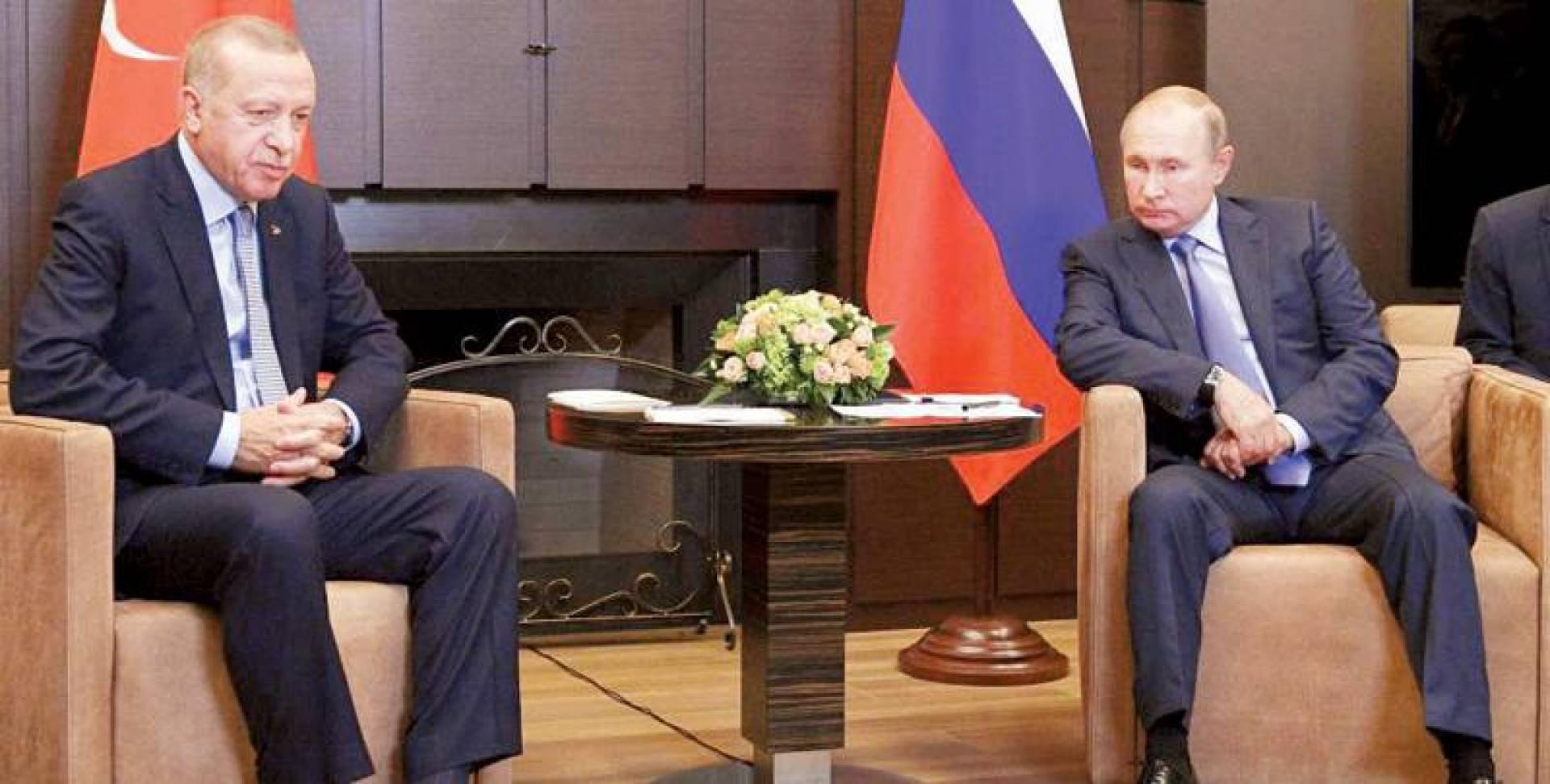 بوتين وأردوغان أمام انتكاسة في العلاقة الدافئة