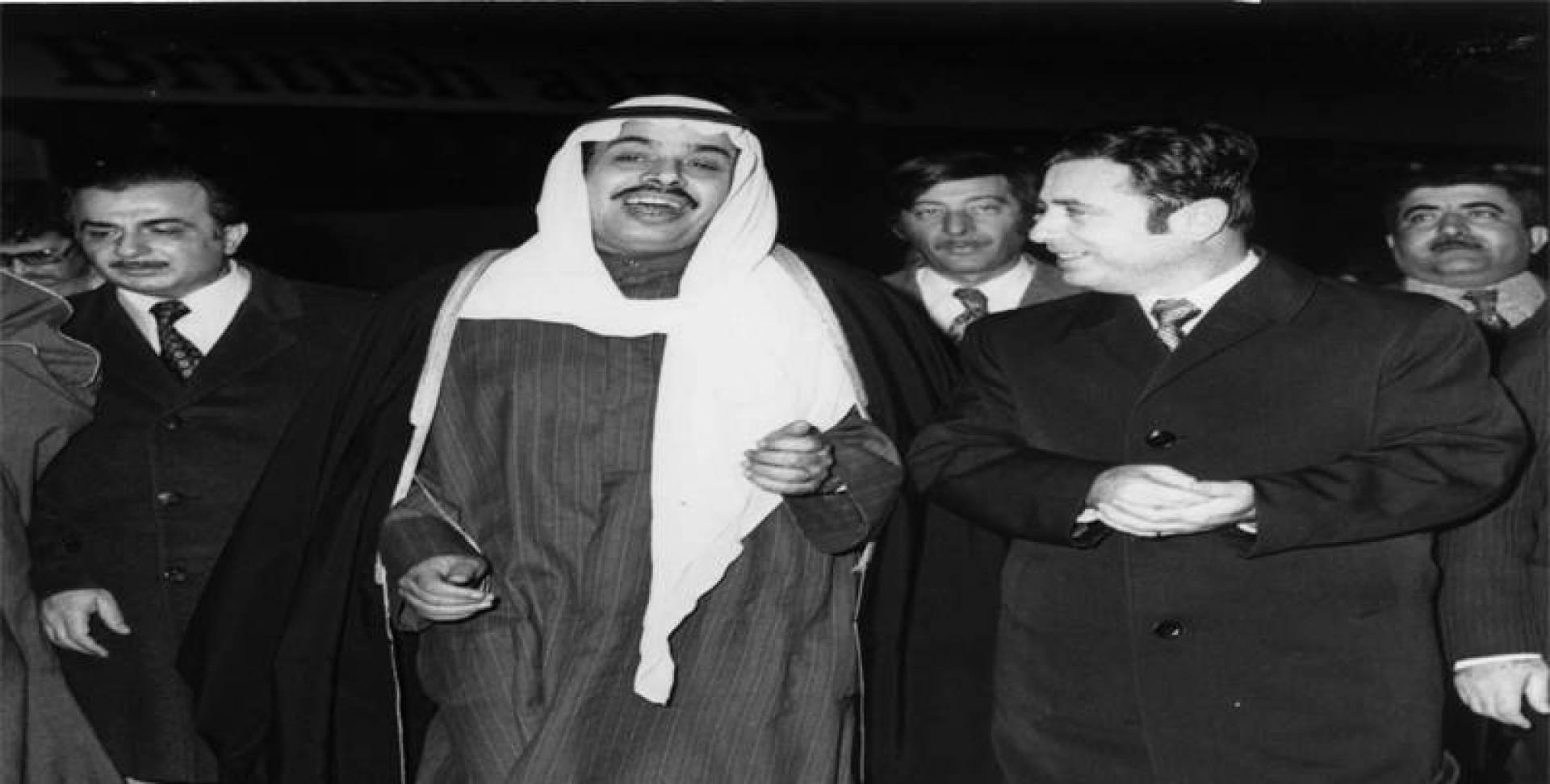 عبد الحليم خدام وزير الخارجية السوري مع وزير الشؤون والسفير السوري.. أرشيفية
