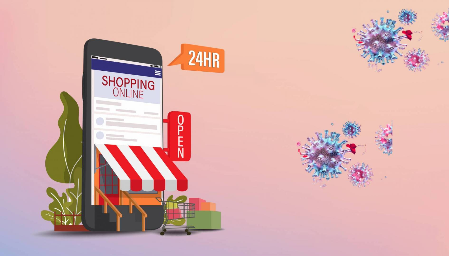 Image result for تأثير فيروس كورونا على التسوق عبر الإنترنت