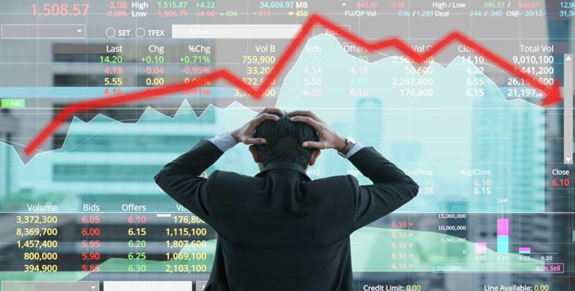 انهيار أسعار الأسهم بسبب الكساد الاقتصادي