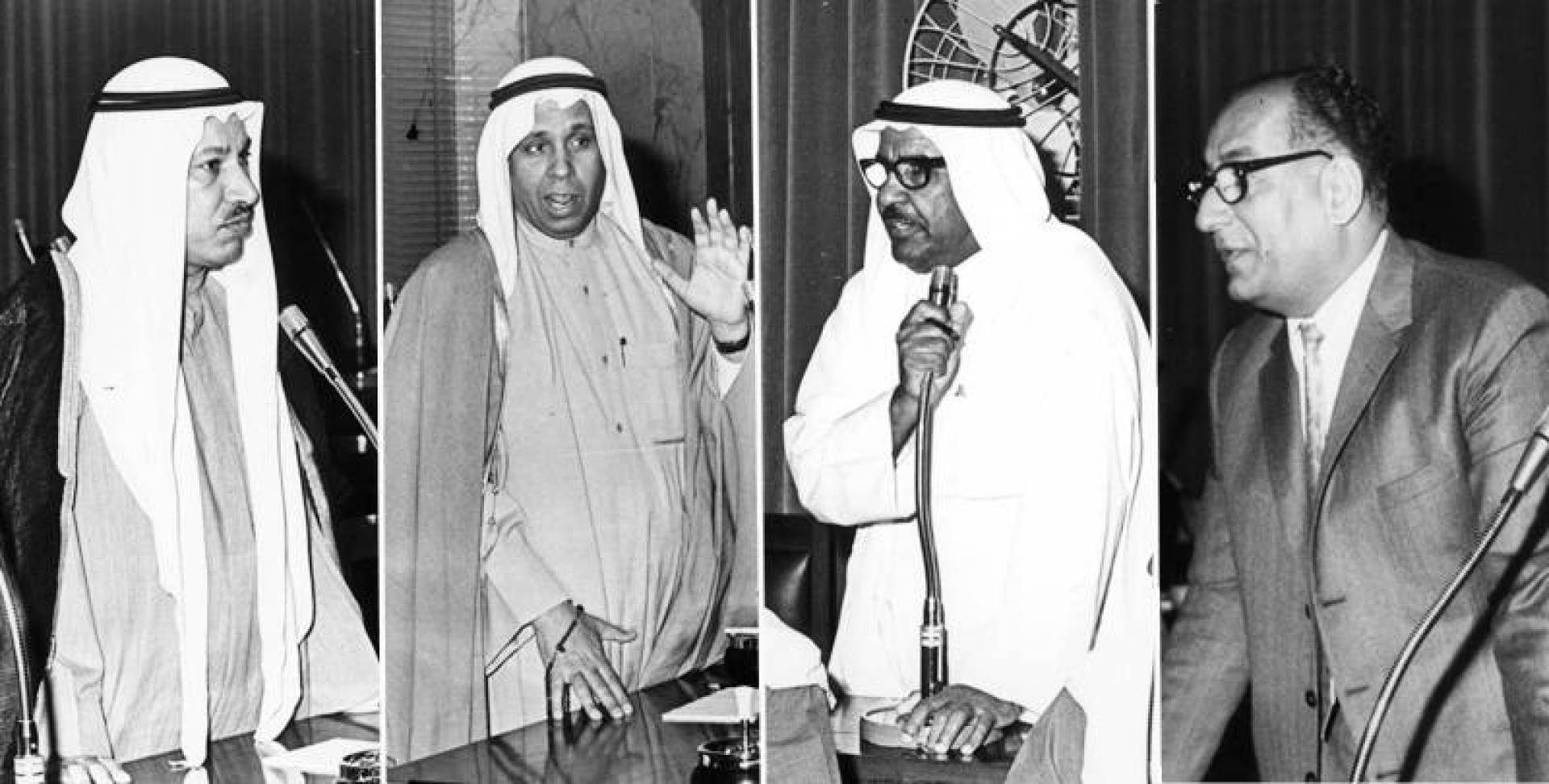 عبدالعزيز حسين ومحمد الرشيد وعبدالعزيز الصرعاوي وراشد الفرحان