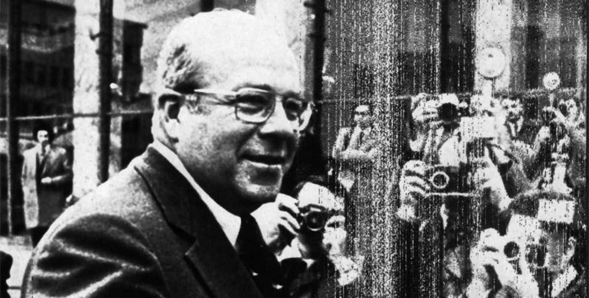 جورج شولتز وزير الخزانة الأميركي أثناء وجوده في روما لحضور اجتماعات لجنة العشرين.. أرشيفية