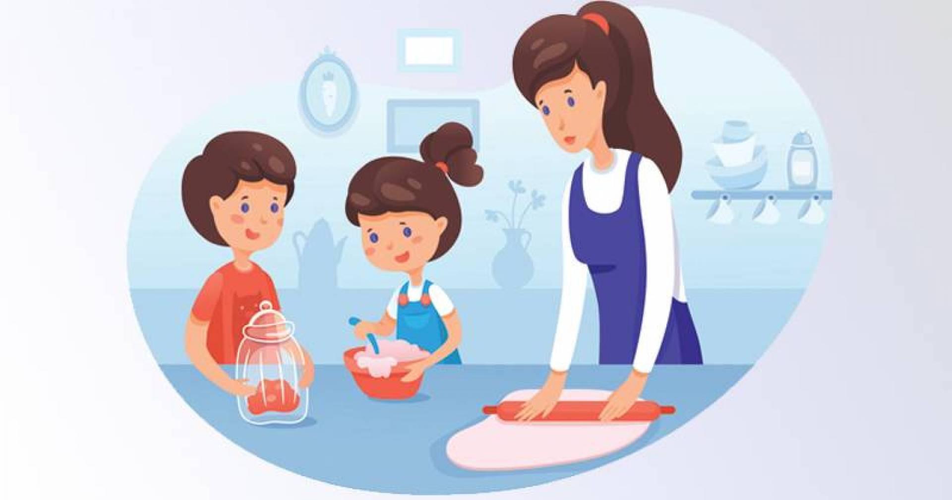 «الحجر».. فرصة لتدريب الأطفال على الطهي