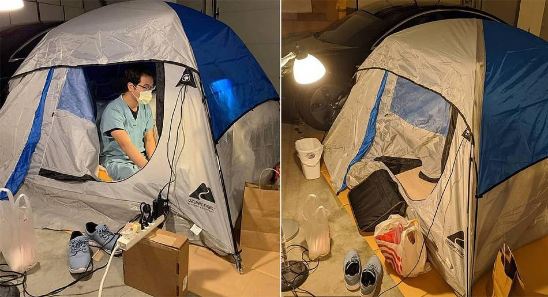 طبيب من كاليفورنيا يعالج مرضى «كورونا» .. ينتقل للعيش في خيمة