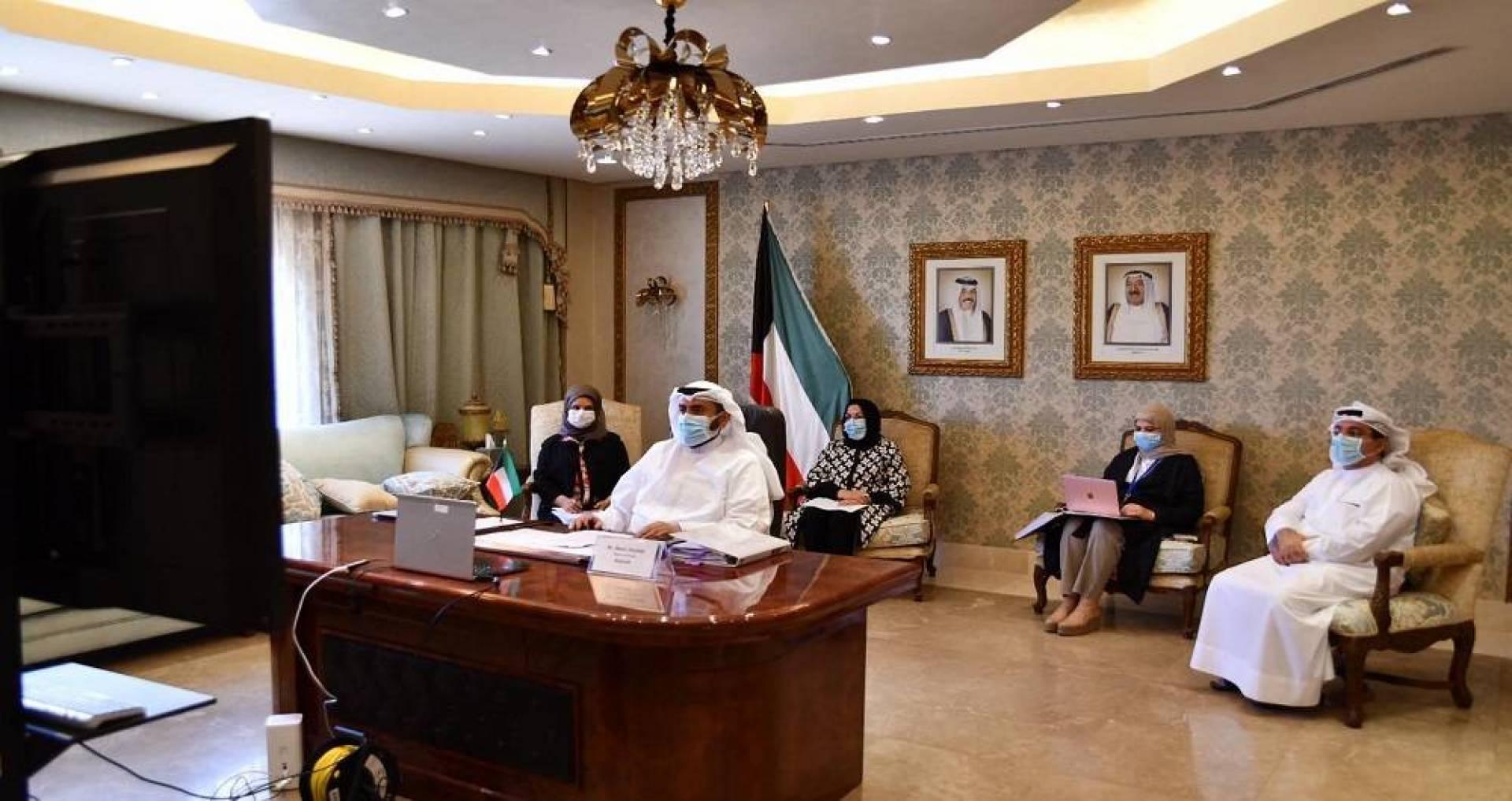 وزارة الصحة تشارك في اجتماعات الدورة 73 لجمعية الصحة العالمية عبر تقنية الاتصال المرئي