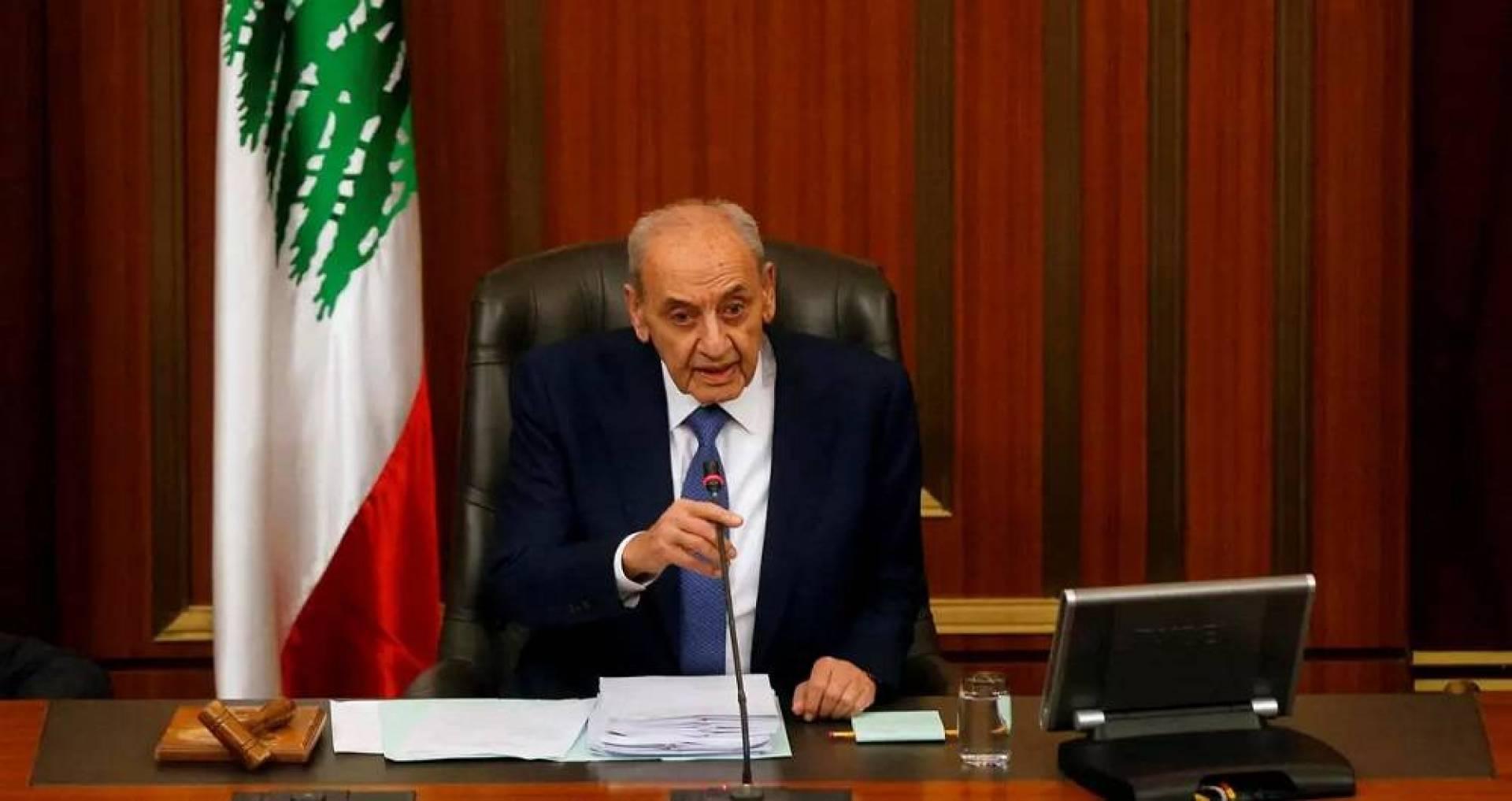 رئيس مجلس النواب اللبناني للحكومة: حان الوقت للأفعال لا الأقوال