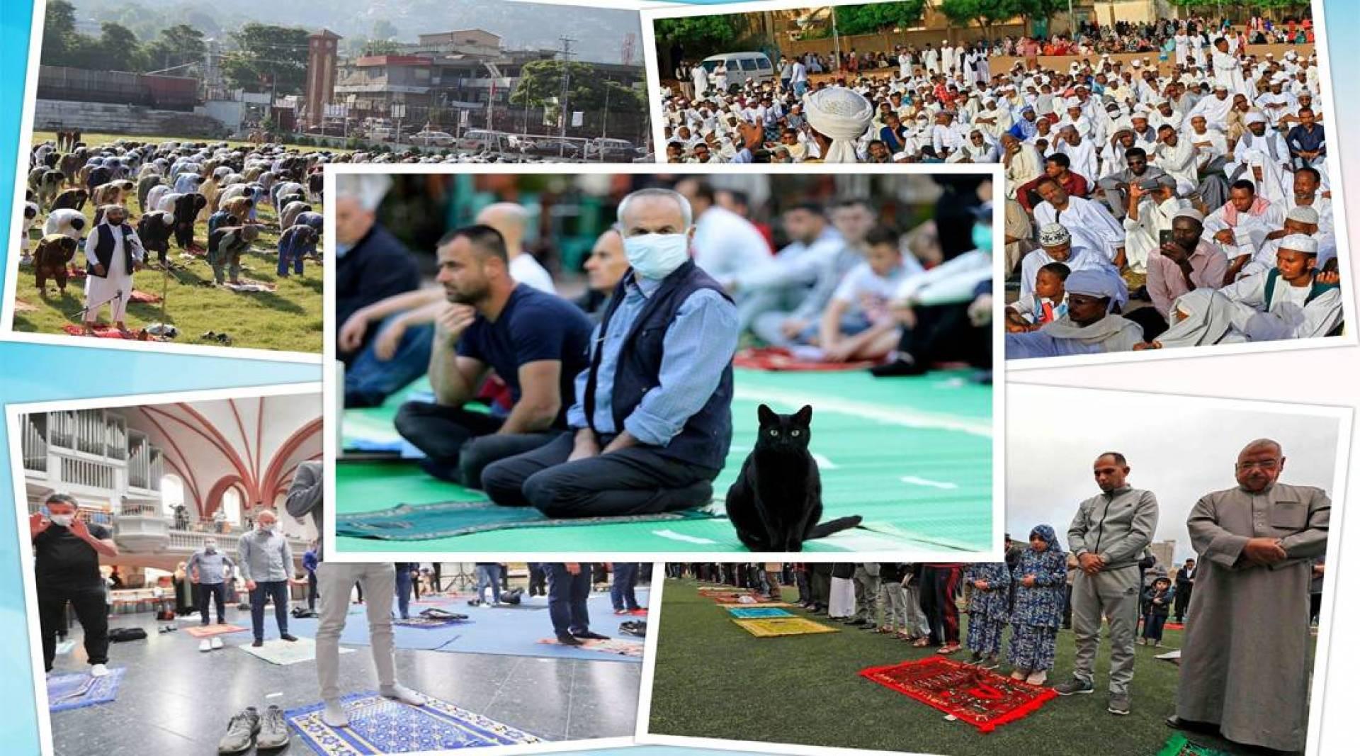 بالصور - رغم «كورونا».. المسلمون يحتفلون بعيد الفطر في عدة دول
