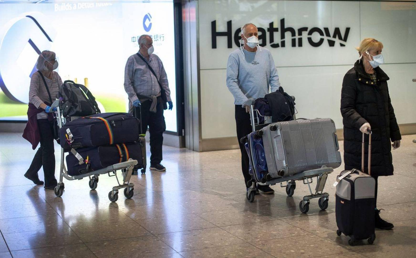 بريطانيا ستفرض حجراً صحياً لمدة 14 يوماً على المسافرين القادمين من الخارج
