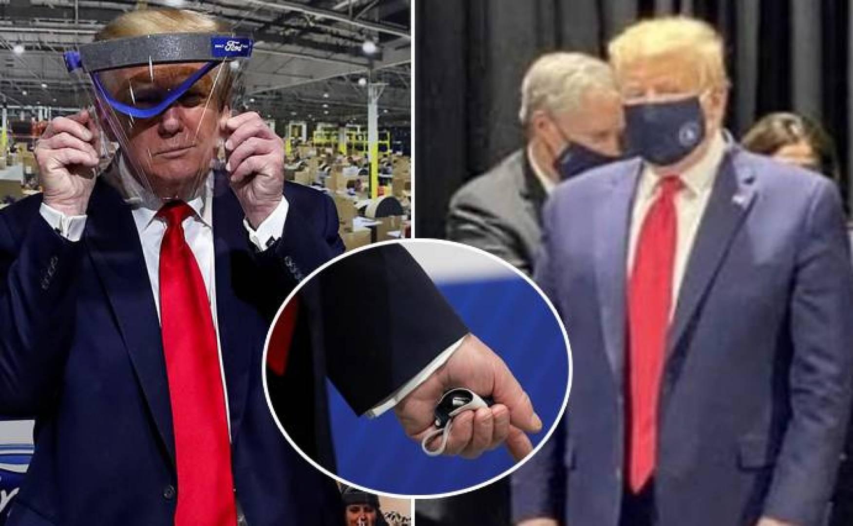 أخيراً.. ترامب يظهر مرتدياً كمامات لكن لدقائق فقط
