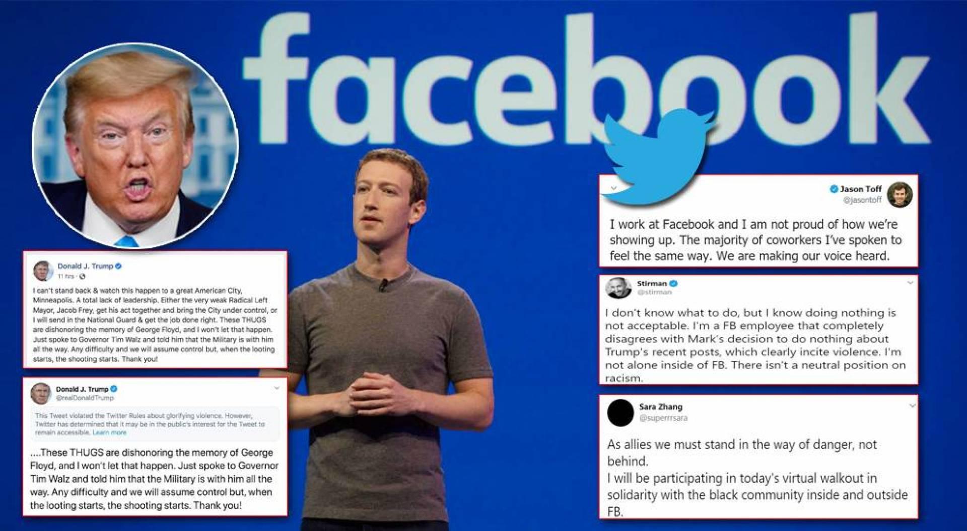 موظفو «فيسبوك» يعبرون عن آرائهم بحرية عبر «تويتر»