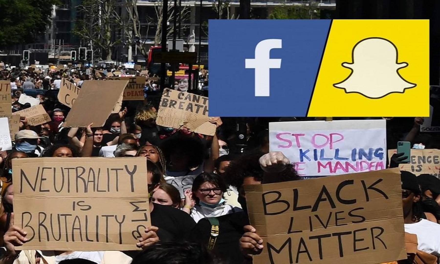 فيسبوك وسناب شات تنضمان إلى قائمة الشركات الأميركية المنددة بوفاة رجل أسود