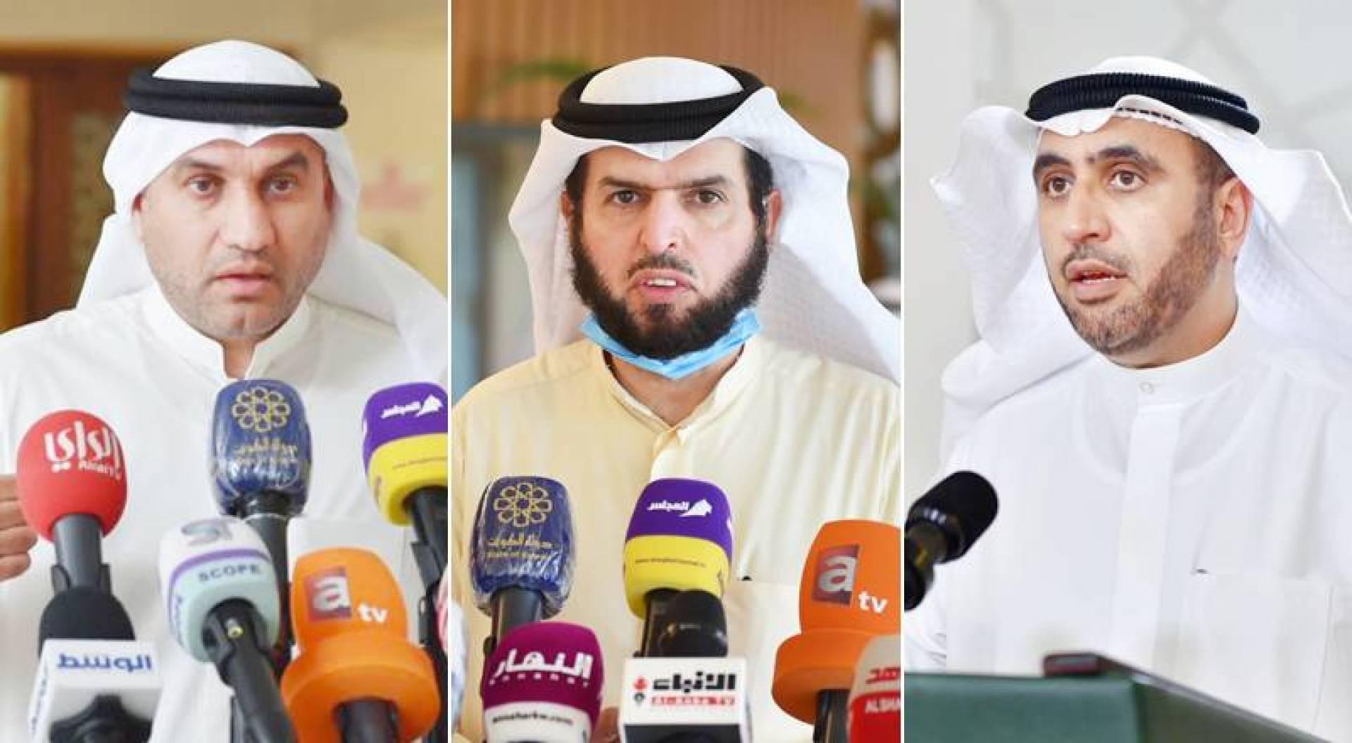 محمد الدلال - عادل الدمخي - عبدالله الكندري
