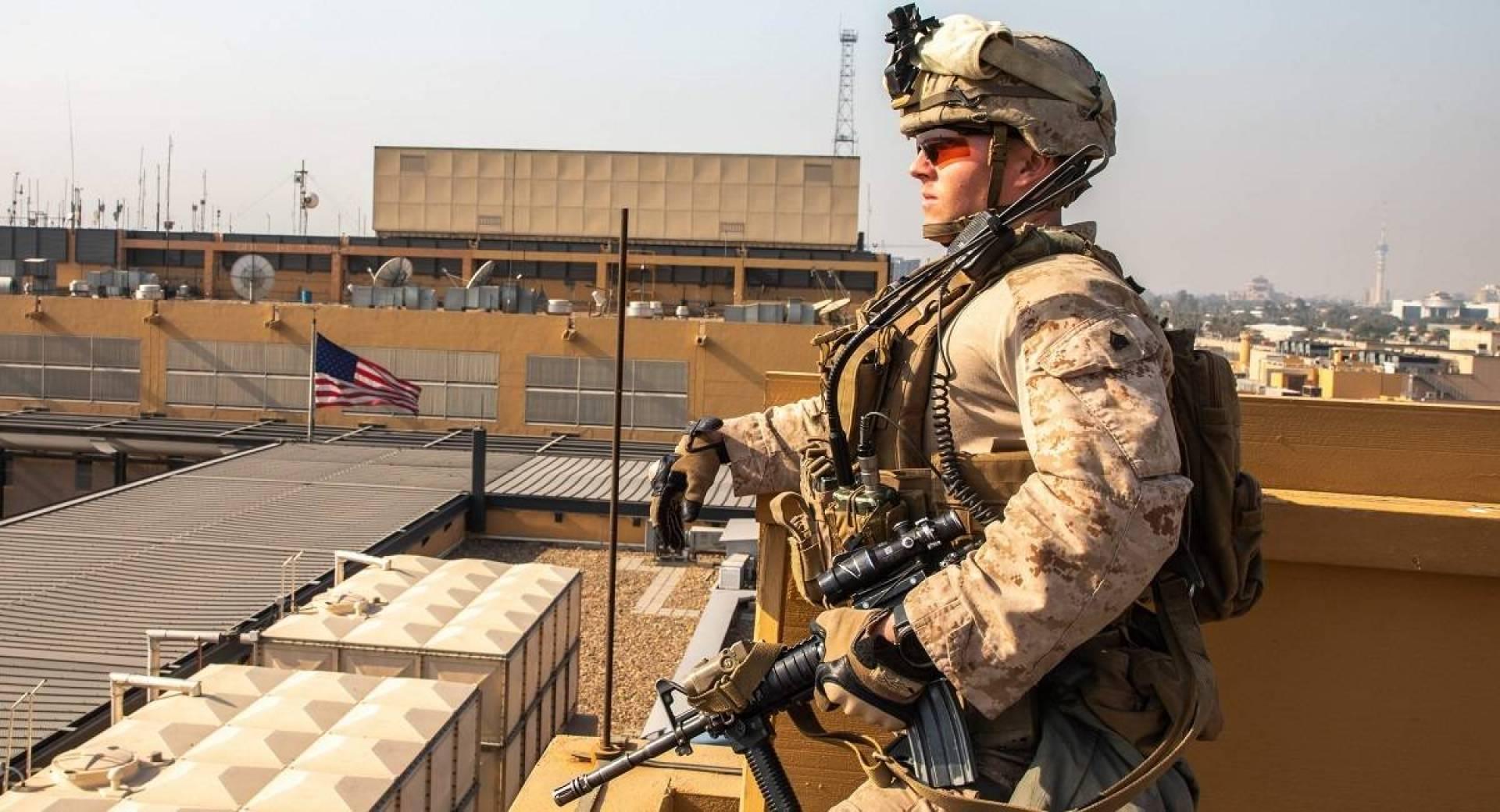 هجوم صاروخي استهدف محيط السفارة الأميركية وسط بغداد