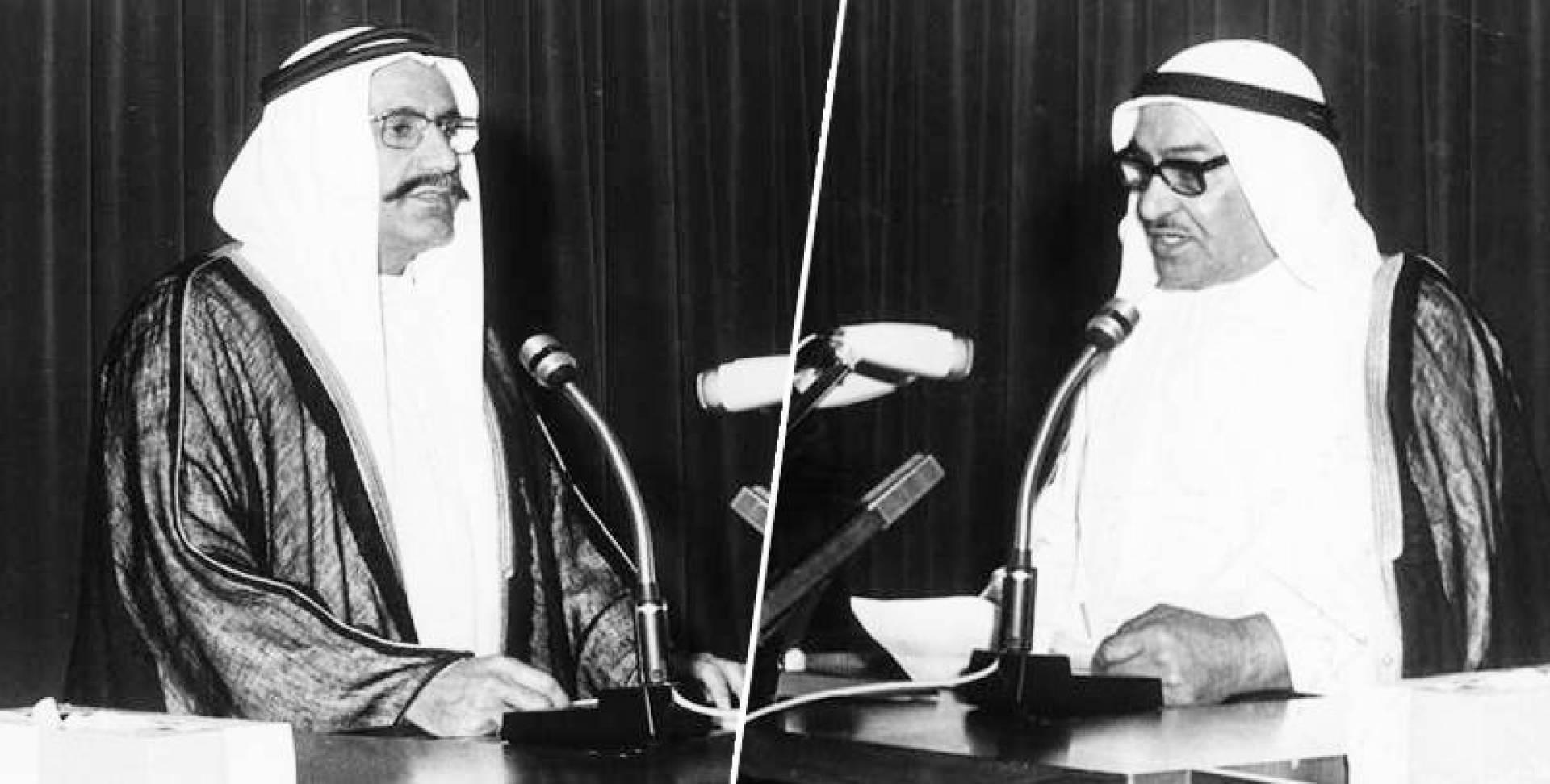 عبدالعزيز الصقر وعبدالرحمن العتيقي.. صورة أرشيفية