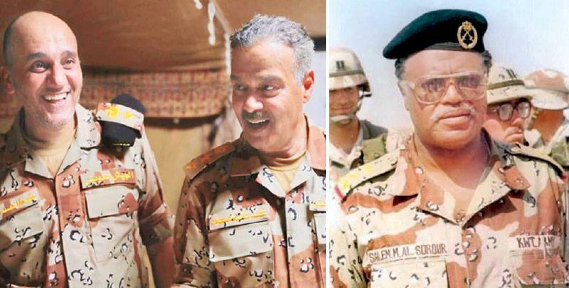 اللواء الراحل سالم سرور - العقل والبريكي في مشهد من فيلم «معركة الجسور»