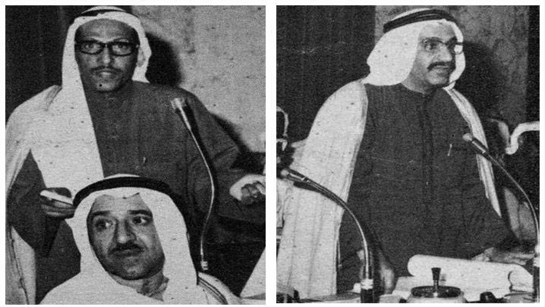 على اليمين عبدالرحمن العتيقي، ثم غنام الجمهور.. أرشيفية