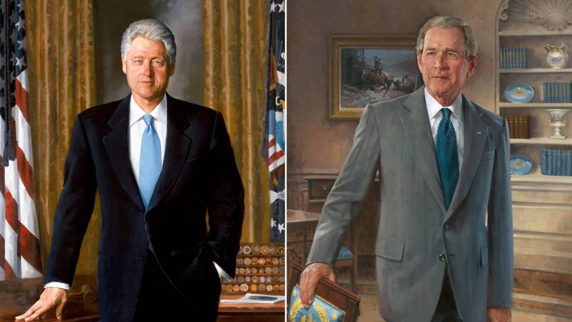 إزالة صورتي بيل كلينتون وجورج بوش الابن من ردهة البيت الأبيض