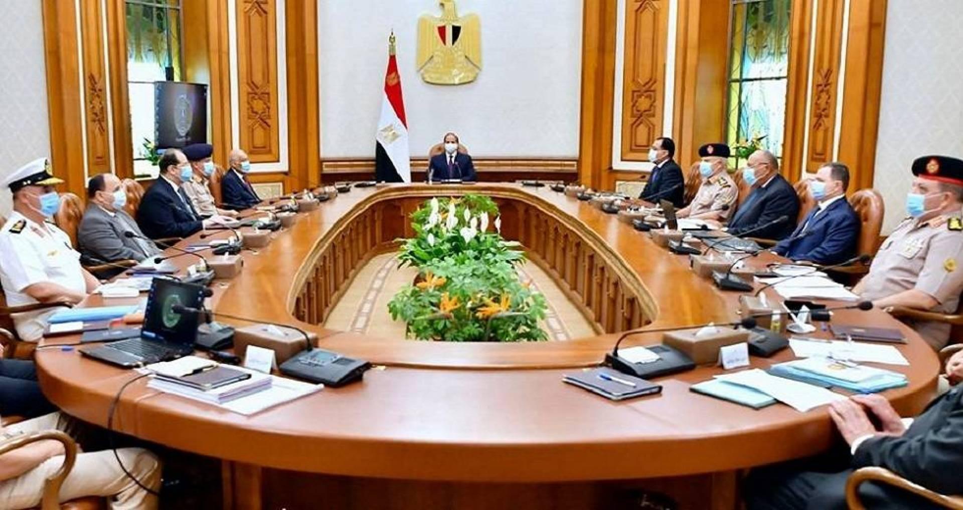 مجلس الدفاع الوطني المصري يبحث الأوضاع السياسية والأمنية والعسكرية