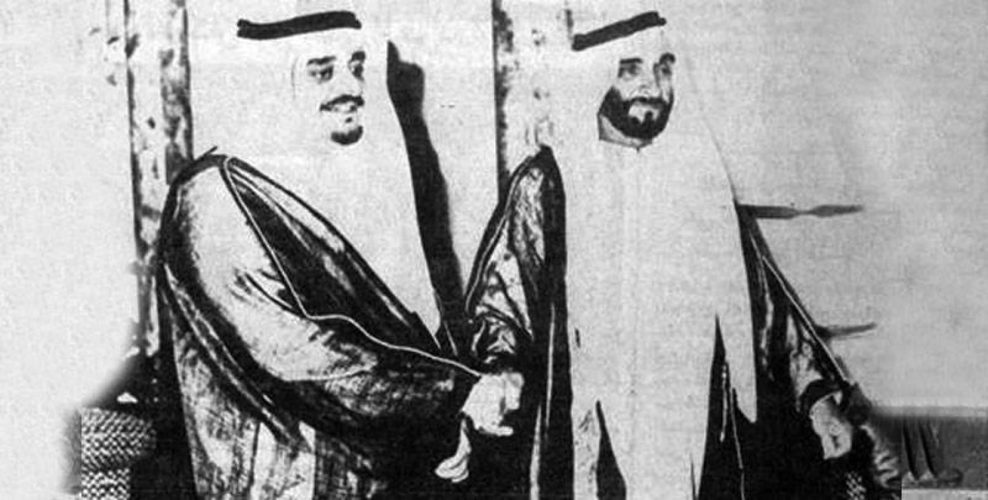 الشيخ زايد بن سلطان آل نهيان والأمير فهد بن عبدالعزيز.. أرشيفية