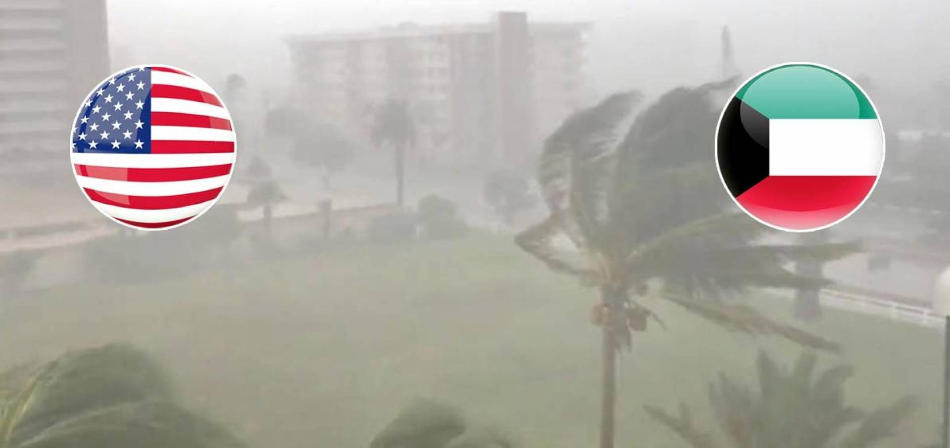 سفارة الكويت في واشنطن تدعو الكويتيين لتوخي الحذر من عاصفة «ايسا ايس»