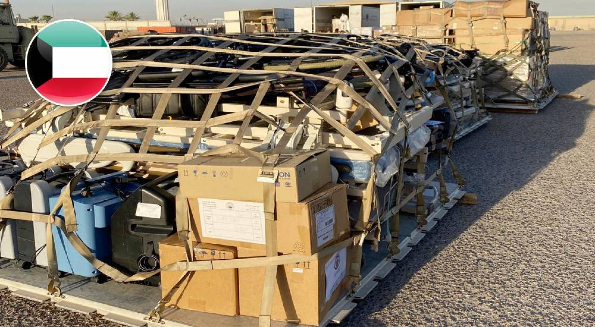 طائرة مساعدات طبية كويتية تصل لبنان صباح اليوم