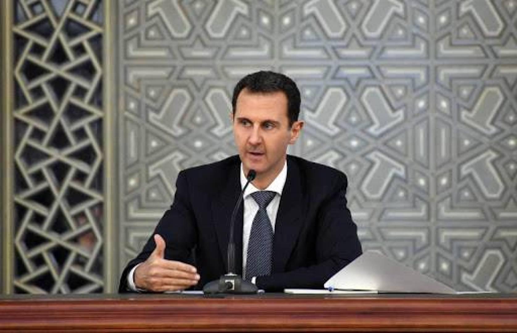 انخفاض في ضغط دم بشار الأسد.. أثناء إلقائه كلمة أمام البرلمان