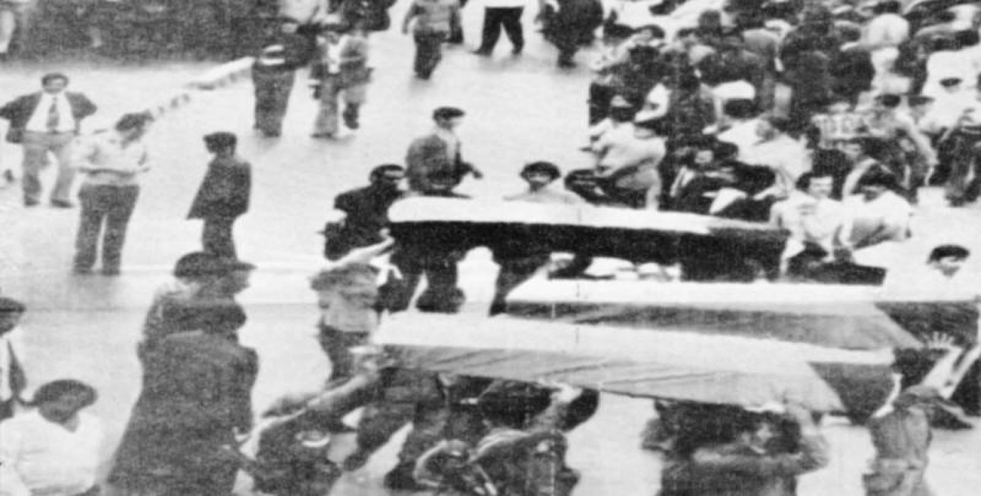 1974  جنازة رمزية لشهداء عملية الخالصة في لبنان