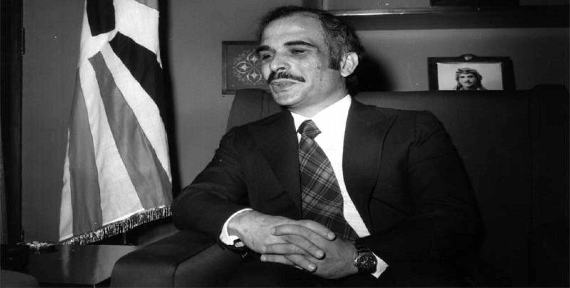 العاهل الأردني الملك حسين.. أرشيفية