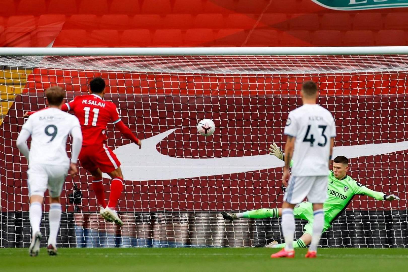 للموسم الرابع على التوالي.. أول أهداف ليفربول في البريميرليغ بأقدام محمد صلاح