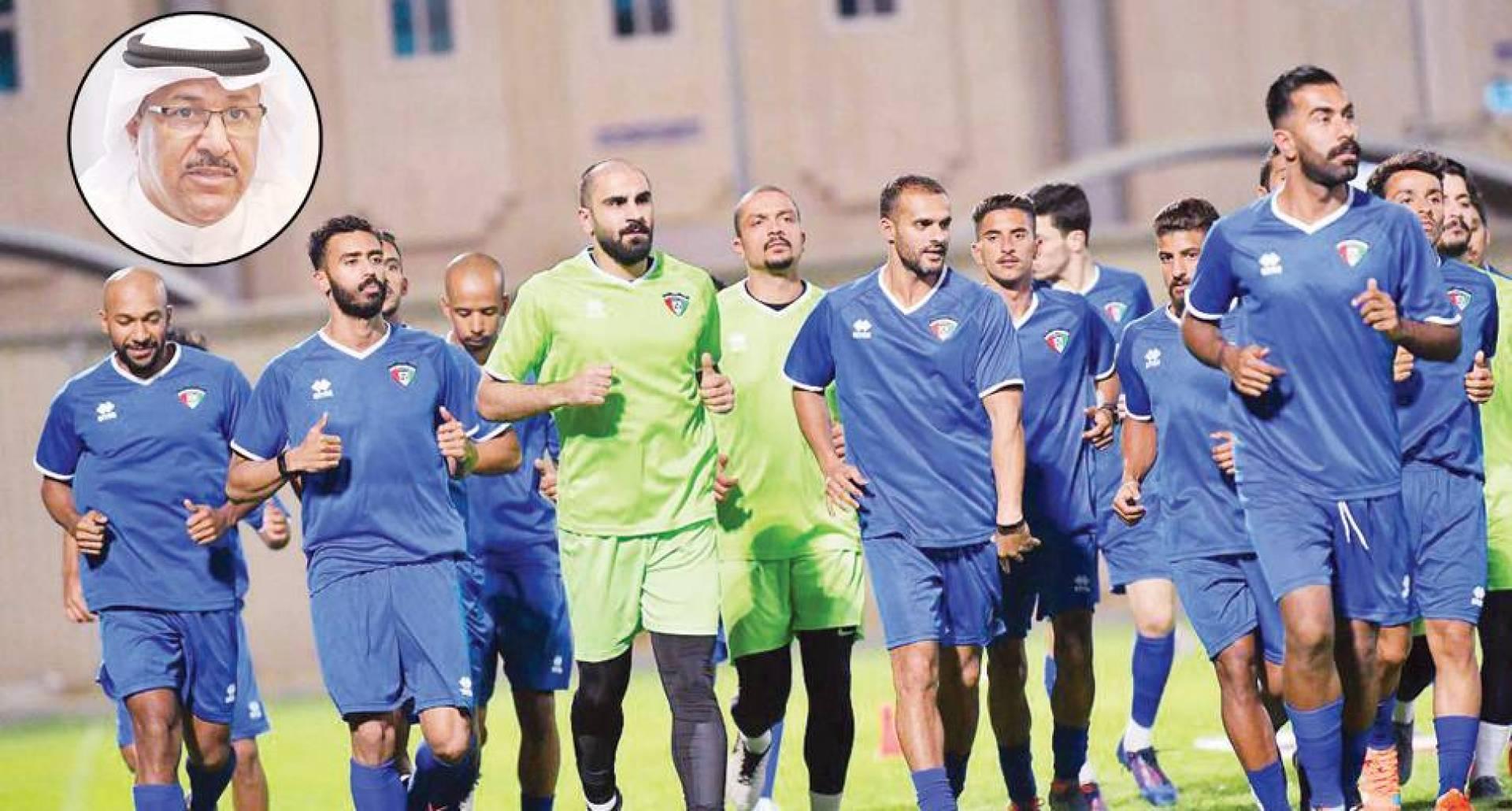 جانب من تدريبات سابقة  وفي الإطار خالد الشمري
