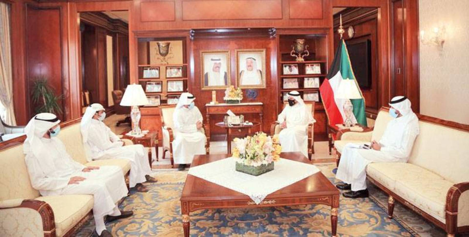 جانب من لقاء الناصر مع اتحاد طلبة الكويت في مصر