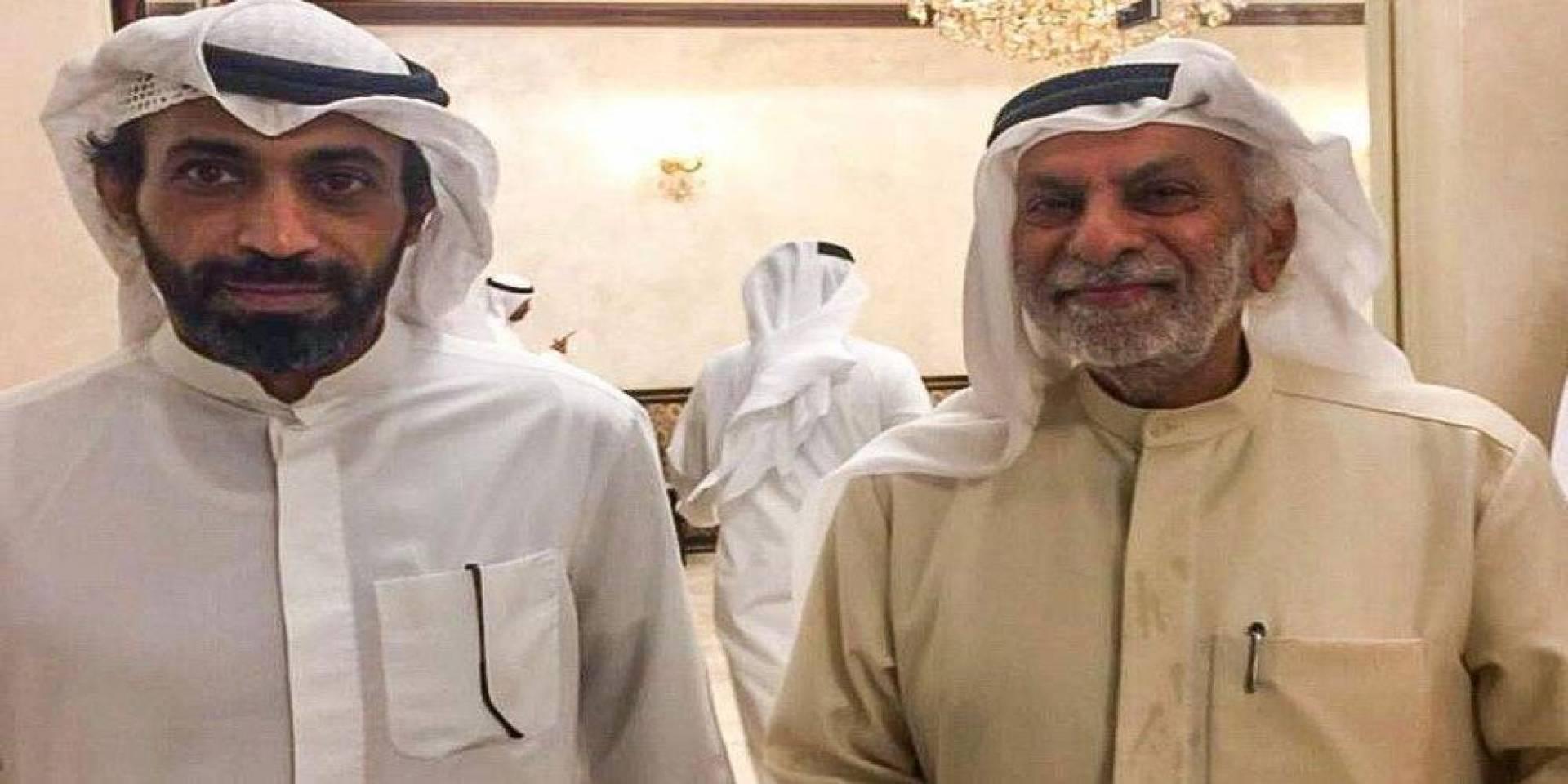 صورة أرشيفية تجمع الدكتور عبدالله النفيسي والدكتور عبيد الوسمي.. في مناسبة سابقة