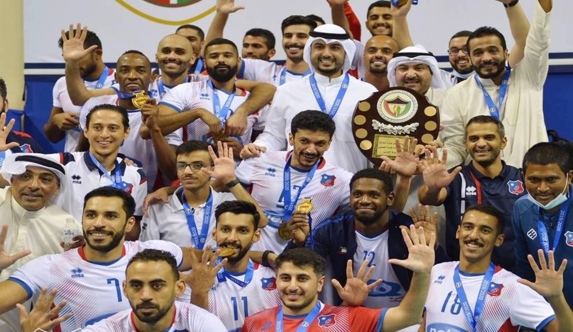 نادي «الكويت» يتغلب على «كاظمة».. ويتوّج بلقب دوري الطائرة