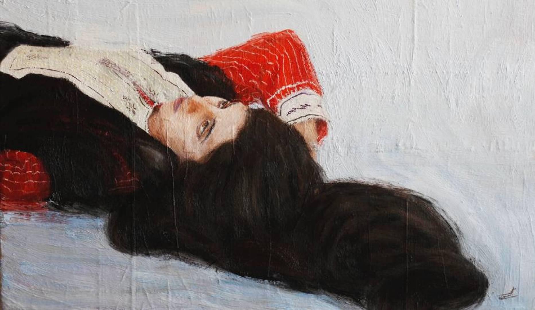 اللوحة للفنانة العُمانية مريم التوكلي