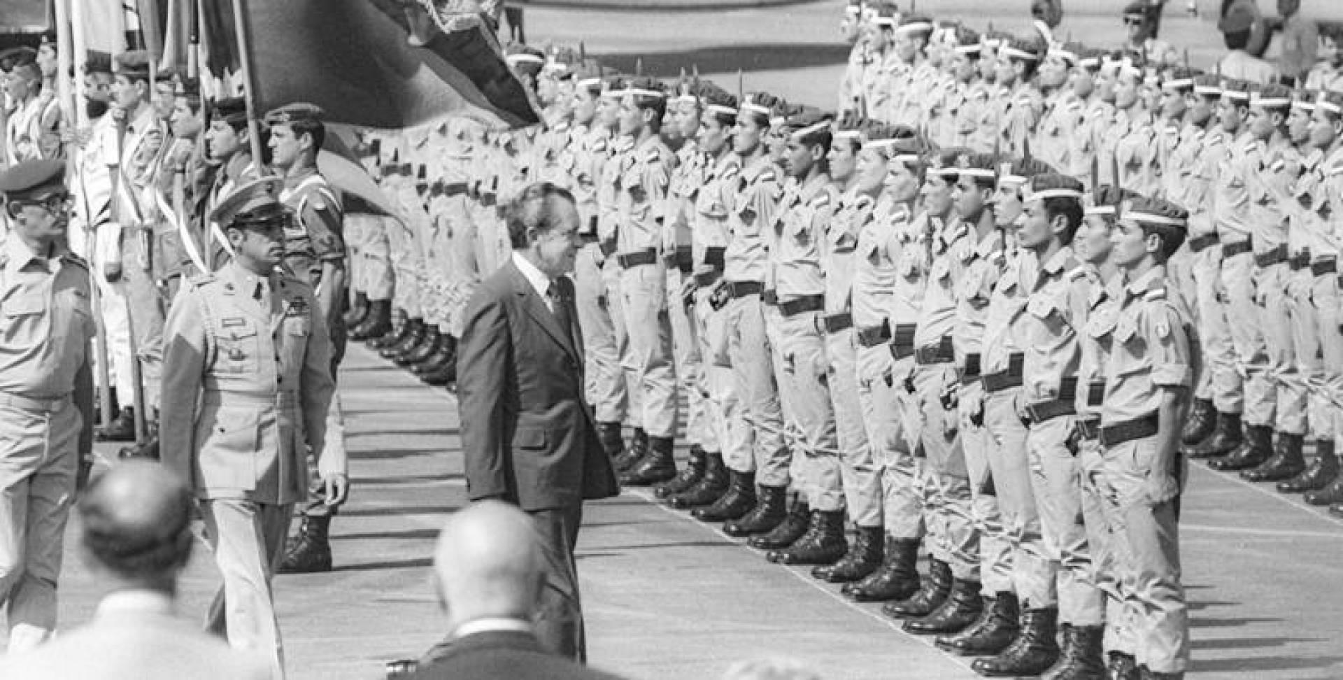 الرئيس الأميركي ريتشارد نيكسون في إسرائيل عام 1974