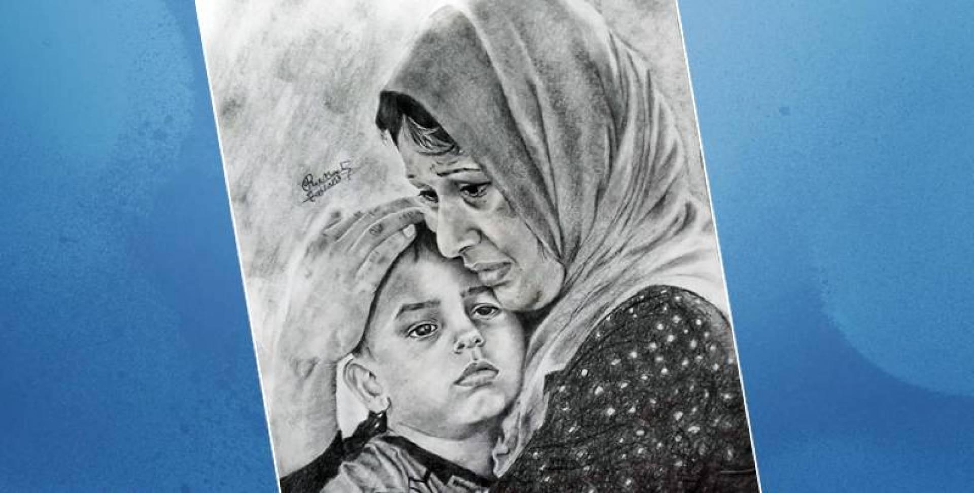 اللوحة لريم الأحمد
