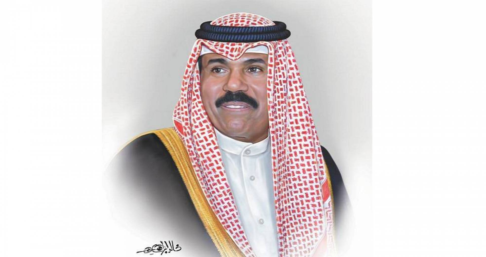 سمو الأمير يستقبل الغانم والسعدون والمحمد والمبارك والخالد